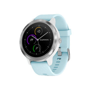 GARMIN GARMIN Vivoactive 3 Element 010-01769-A6 Digital Dial Azure Light Blue Rubber Strap
