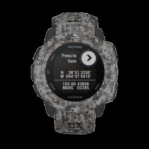 GARMIN GARMIN Instinct Tactical 010-02064-C4 Digital Dial Graphite Camouflage Monterra Grey Strap